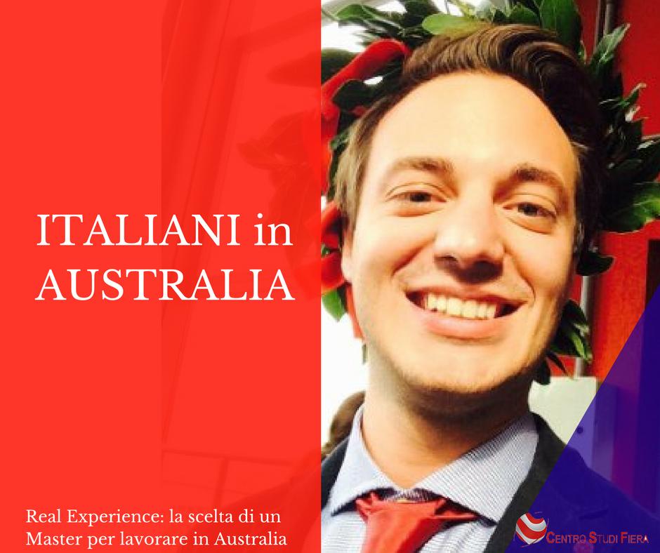 ITALIANI in AUSTRALIA: la scelta di un Master in Australia